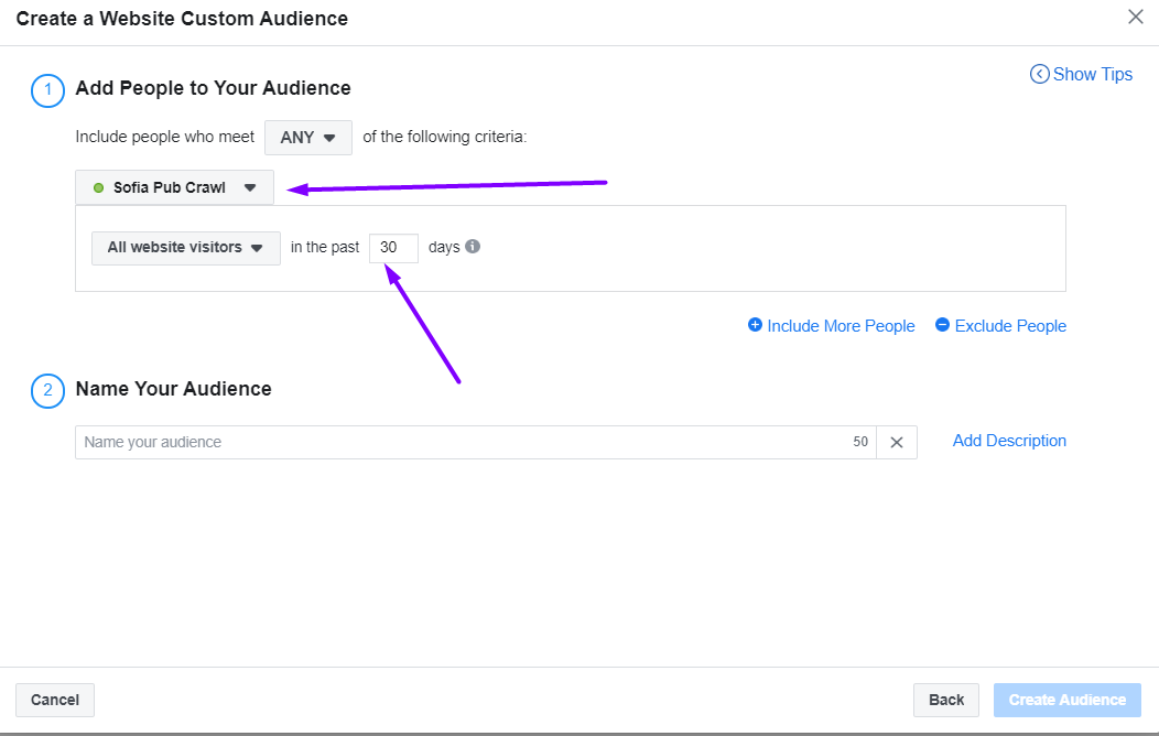 create website traffic audience