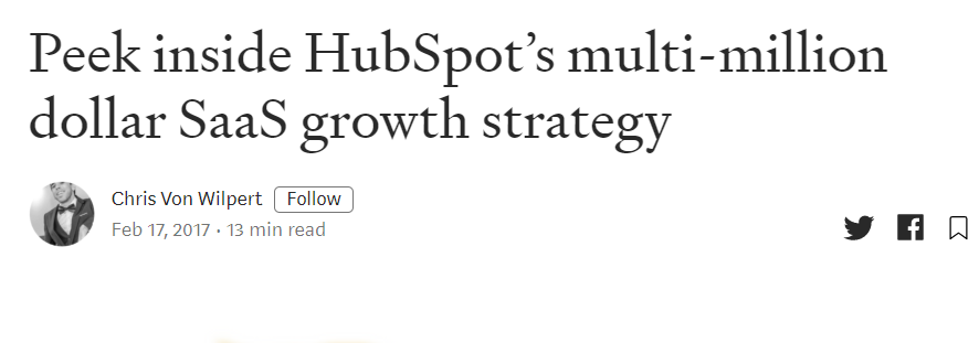 SaaS marketing Hubspot case study