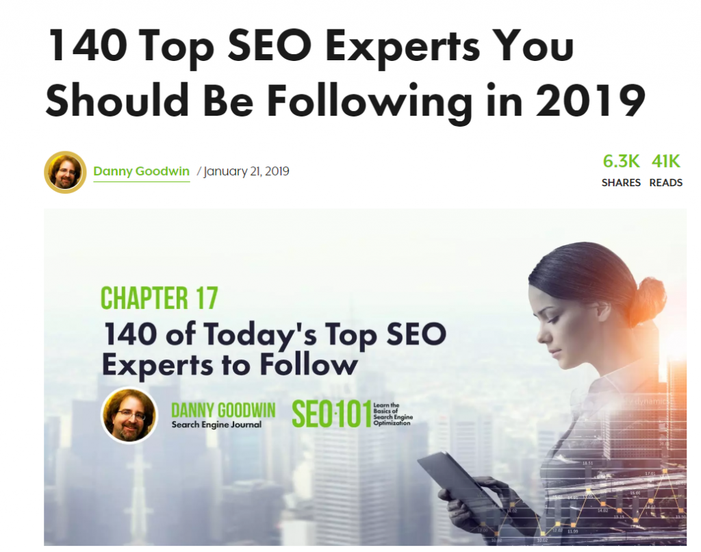 SEO experts article