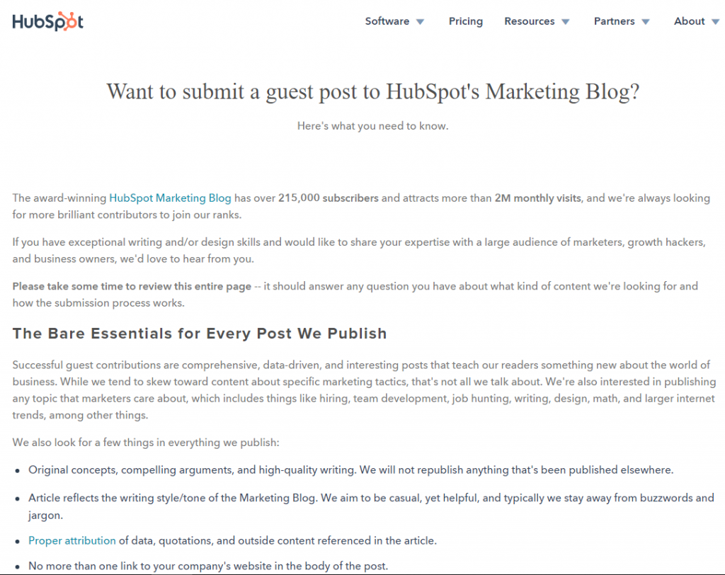 HubSpot Guest Post invite