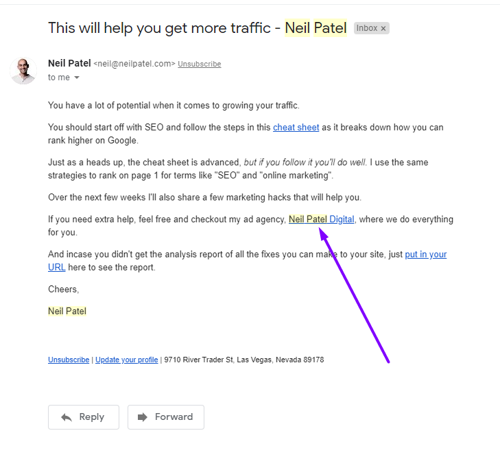 Neil Patel email