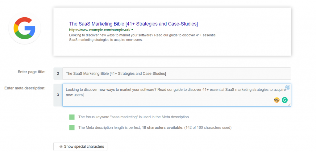 google search saas marketing bible