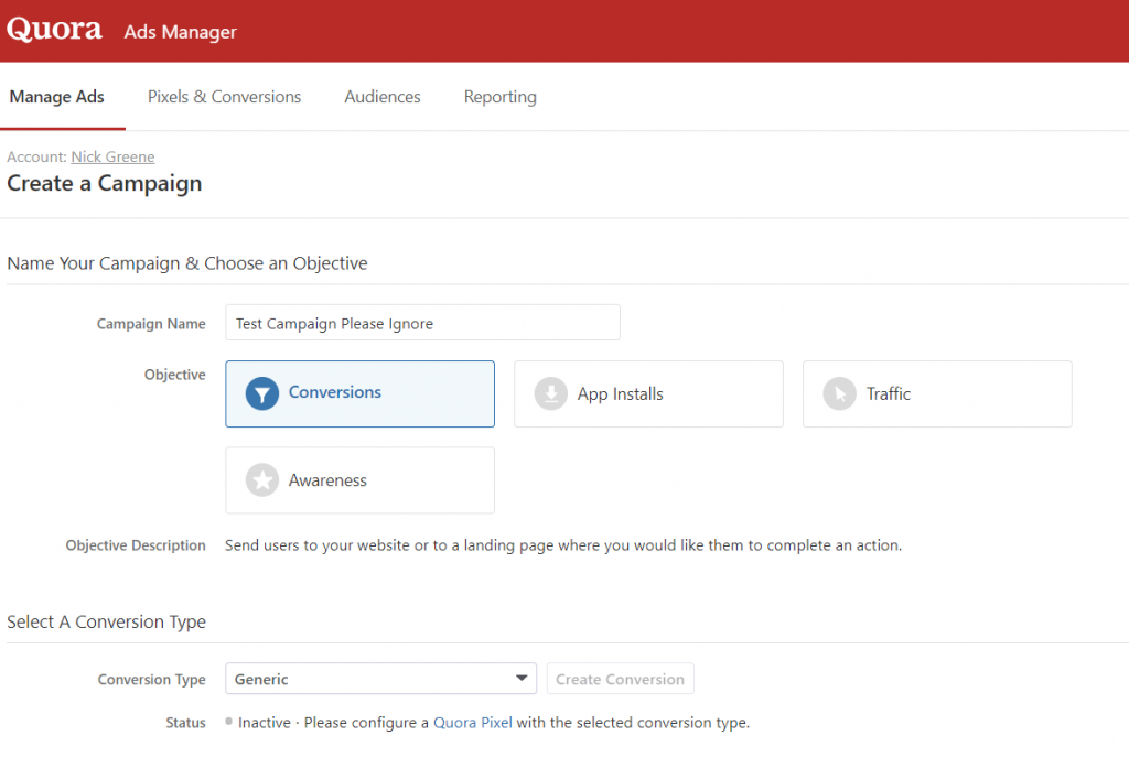 quora ads manager