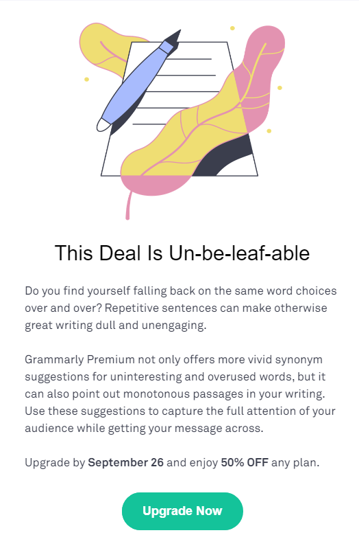 grammarly deal unbeleafable