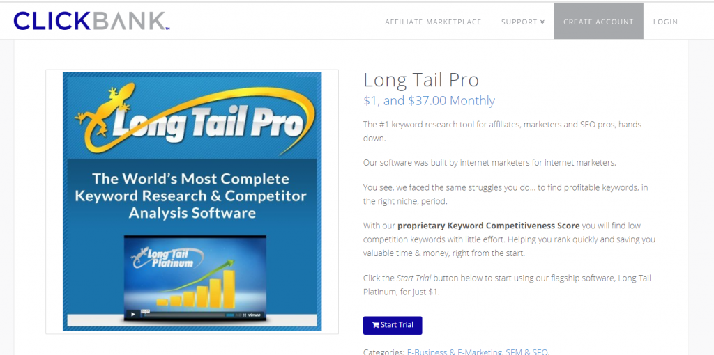clickbank long tail pro