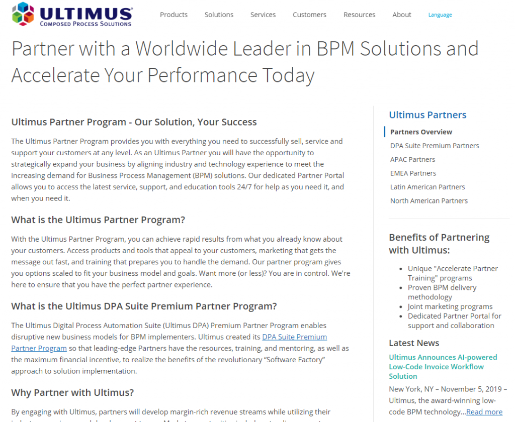 ULTIMUS and BPM Solutions