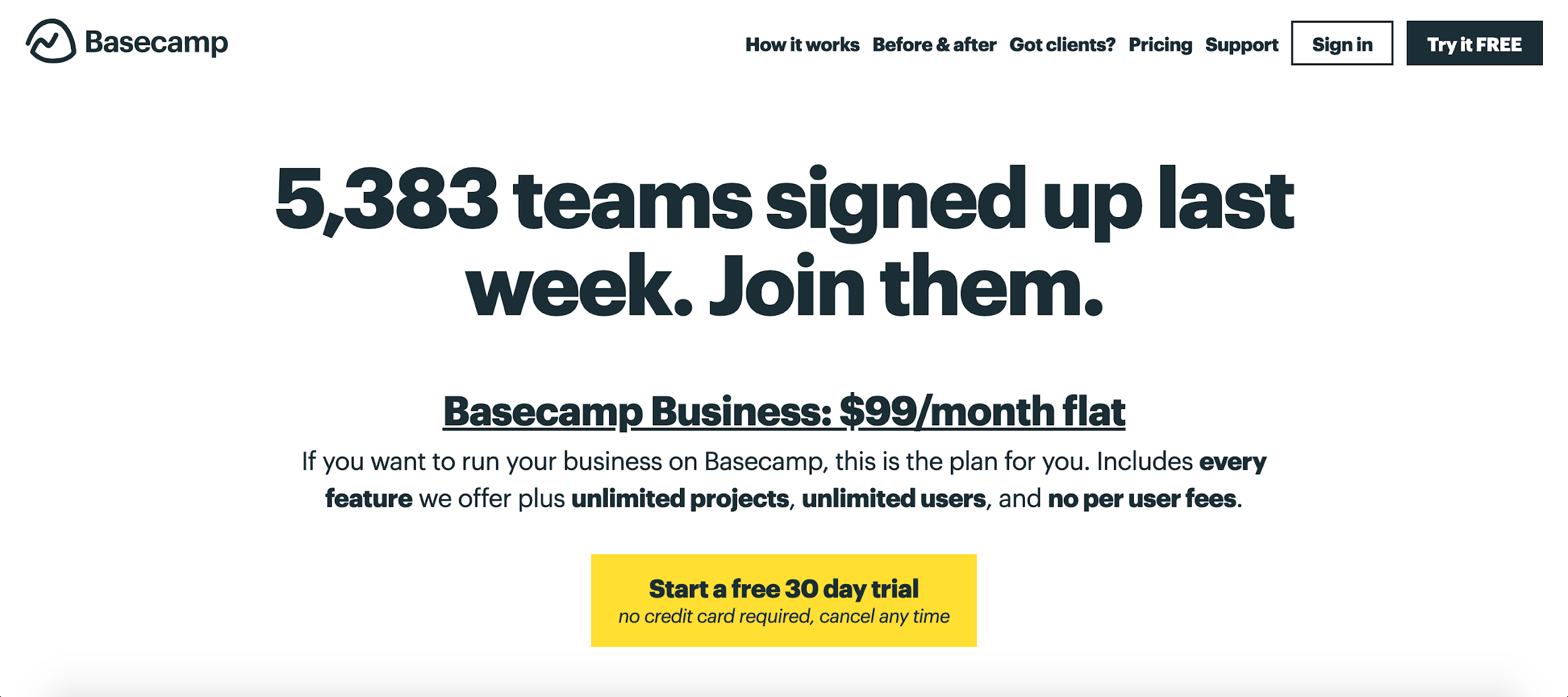 Basecamp saas pricing models