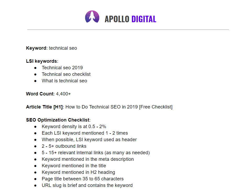 Apollo Digital SEO content writer