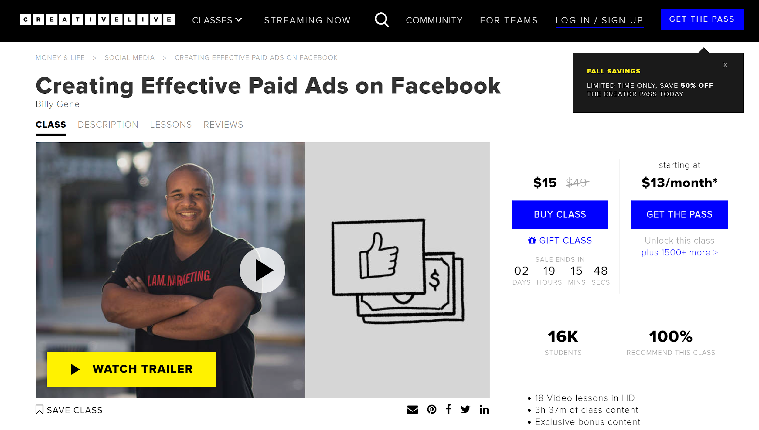 Creativelive - Creating Effective Paid Ads on Facebook