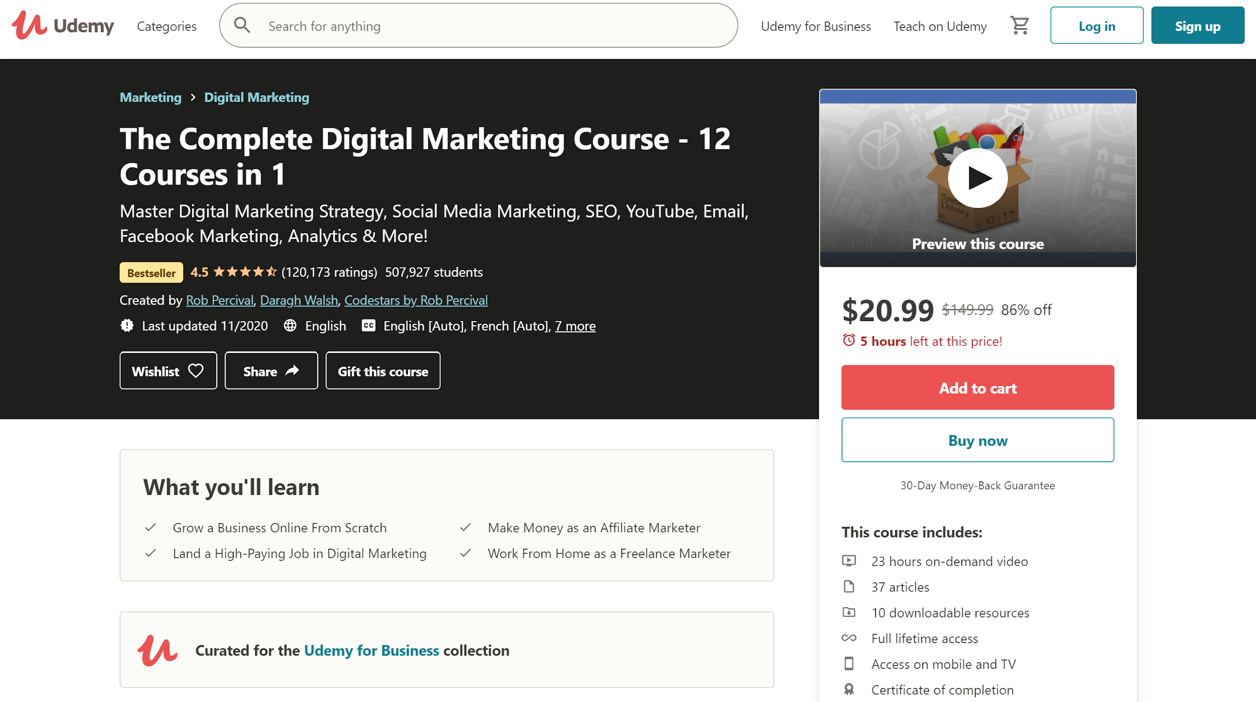 Udemy the Complete Digital Marketing Course