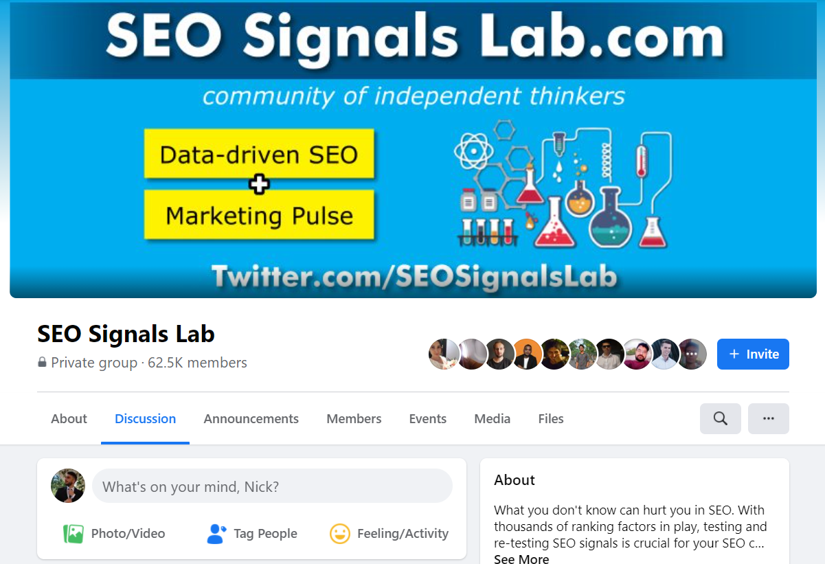 SEO Signals Lab Facebook Group